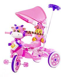 Luusa Hunny Bunny Cow Design Tricycle - Pink