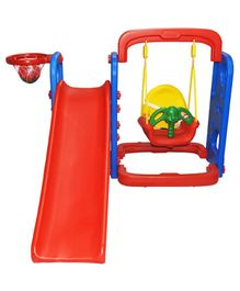 Playgro Toys Super Slide With Swing Red & Green - PGS-216 (color may vary)