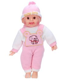 Tickles Laughing Baby Doll Pink And White - 36 cm