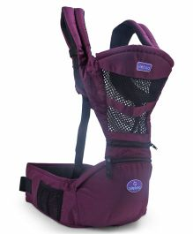 Aiebao Print Baby Carrier - Violet