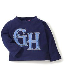 Bob Street Full Sleeves GH Print T-Shirt - Navy