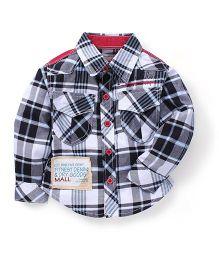 Kiddy Mall Plaid Shirt - Black