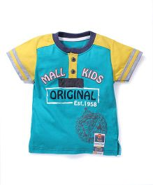 Kiddy Mall Half Sleeves Original Print T-Shirt - Sea Green