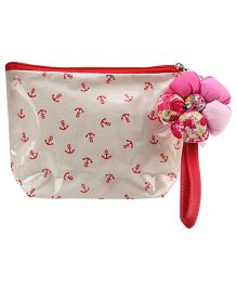 The Eed Multi Utility Pouch Cone Anchor Print - White