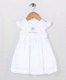 Bebe Wardrobe Cap Sleeves Party Dress - White