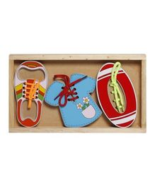 Little Genius Wooden Lacing Set