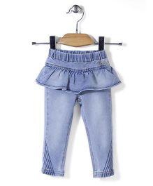 Little Kangaroos Plain Skirted Jeans - Light Blue