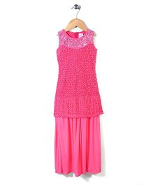 Lei Chie Long Party Wear Gown - Pink