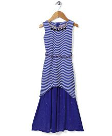 Lei Chie Gorgeous Party Wear Gown - Blue