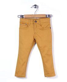 Timeless Fashion Full Length Pant - Brownish Yellow