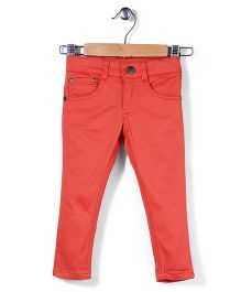 Timeless Fashion Full Length Pant - Dark Orange