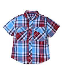 Kiddy Mall Plaid Shirt - Blue & Red