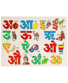 Little Genius - Hindi Vowels  Wooden Puzzle