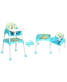 R for Rabbit Cherry Berry The Convertible High Chair With Cushion Blue - HCCBSB1