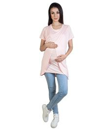 Blush 9 T-Shirt With Wrap Overlay - Baby Pink