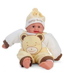 Kumar Toys Happy Baby Print Laughing Baby Doll - Yellow