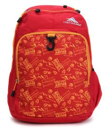 High Sierra Bonobo Backpack Red - 17 Inches