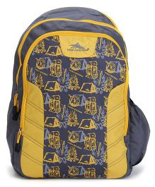 High Sierra Canine Backpack Grey And Yellow - 17 Inches