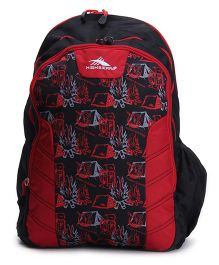 High Sierra Canine Backpack Black And Red - 17 Inches