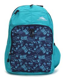 High Sierra Bonobo Backpack Aqua Blue - 17 Inches