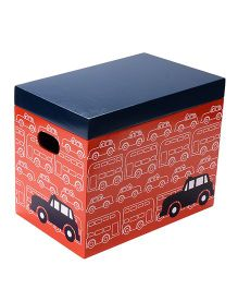 Fly Frog Closed Storage Box Cars Theme -Dark Peach  And Blue