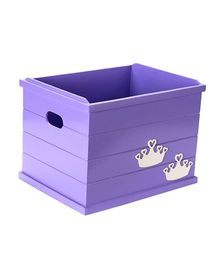 Flyfrog Storage Box Tiara Theme - Purple