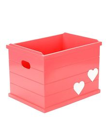 Flyfrog Storage Box Hearts Theme - Peach