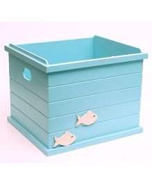 Flyfrog Storage Box Fish Theme - Aqua Blue