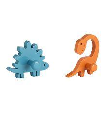Flyfrog Wall Hooks Dinosaur Theme - Blue And Orange