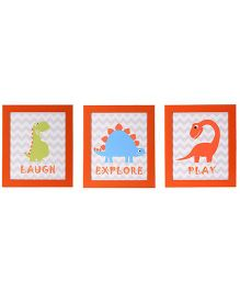 Flyfrog Wall Art Dinosaur Theme - Multicolor