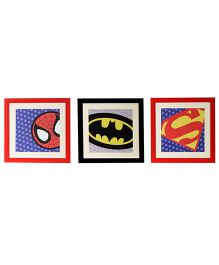 Flyfrog Wall Art Superhero Theme - Multicolor