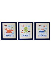 Flyfrog Wall Art  Bath Theme - Multicolor