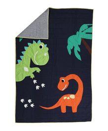 Flyfrog Quilt Dinosaur Theme - Navy Blue