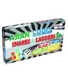 Asian Ludo Snakes And Ladder Set -  Multicolor