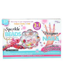 Asian Sparkle Beads and Designer Nails 2 in 1 - Multicolor