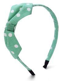 Clip Case Hair Band Polka Dots Print - Green