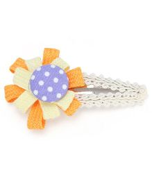 Clip Case Snap Clip Floral Applique - Orange and Yellow