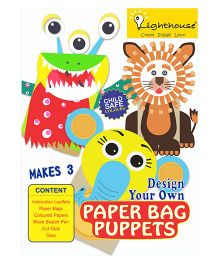 Lighthouse Design Your Own Paper Bag Puppets - Multicolor