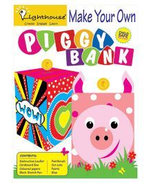 Lighthouse Decorate Your Own Piggy Bank - Multicolor