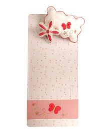 Flyfrog Single Bed Sheet  Pillow Cover Cushion Cover Set - Peach