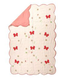 Flyfrog Quilt Butterfly Theme - Peach