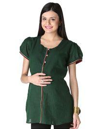 Morph Short Sleeves Nursing Kurta - Green