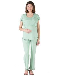 Morph Green Nursing Pajama Set - Medium