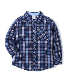 Babyhug Full Sleeves Checks Shirt - Blue