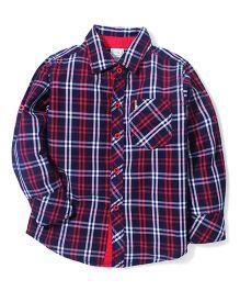 Babyhug Full Sleeves Checks Shirt - Red