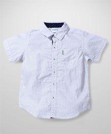Babyhug Half Sleeve Printed Shirt - Off White