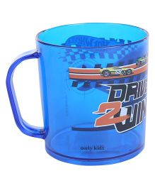 Hotwheels Clear Mug Drive To Win Print - Blue