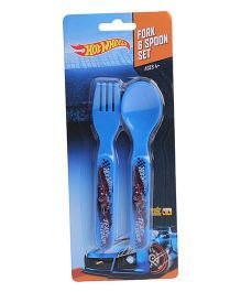 Hotwheels Spoon & Fork Set - Blue