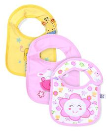 Mee Mee Baby Bib Pack of 3 - Pink And Yellow