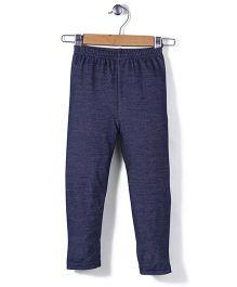 Babyhug Full Length Plain Leggings - Navy Blue